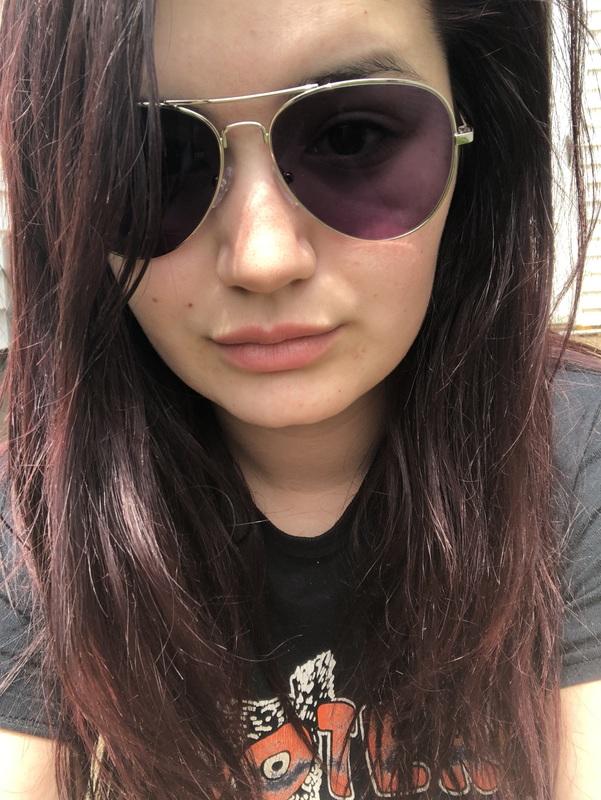 Paige N. - Silver - aviator - metal
