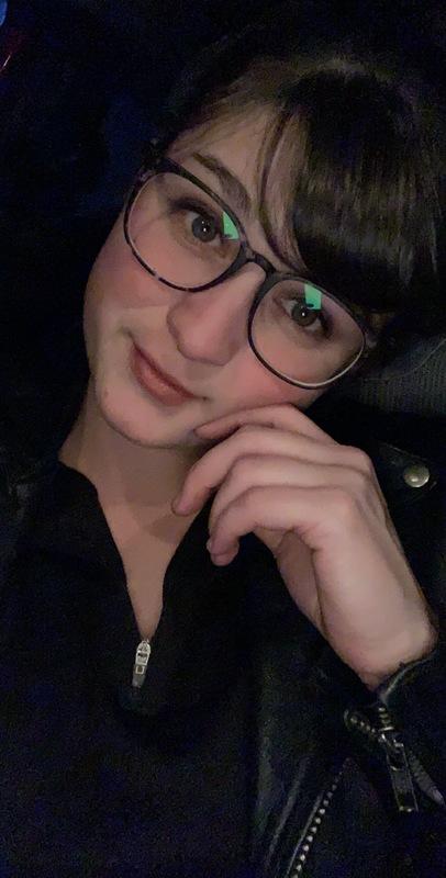 Megan M. - Swirled Gray - square - plastic