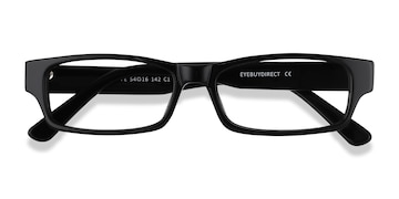 9398072a51 Boston - Rectangle Matte Black Frame Glasses