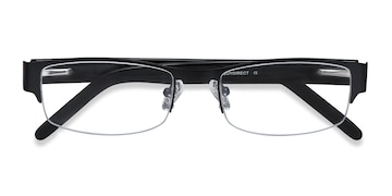 Black Chilliwack -  Designer Metal Eyeglasses
