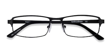 Matte Black Thomas -  Metal Eyeglasses