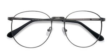 Gunmetal Lotus -  Metal Eyeglasses