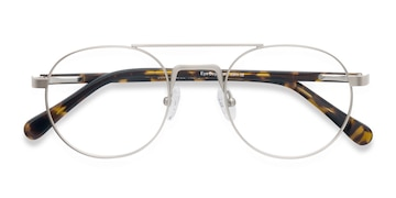 Light Golden Lock -  Vintage Metal Eyeglasses