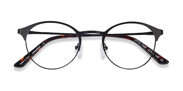 Black Little Time -  Classic Metal Eyeglasses