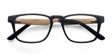 Black Lincoln -  Fashion Wood Texture Eyeglasses