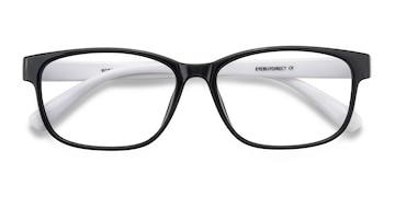 Black/White Robbie -  Plastic Eyeglasses