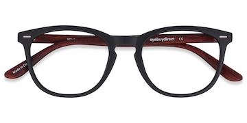 Black/Brown Yolo -  Geek Plastic Eyeglasses
