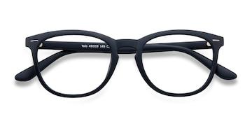 Matte Navy Yolo -  Geek Plastic Eyeglasses
