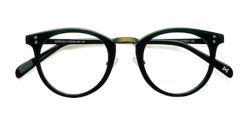 Charcoal Nostalgia -  Geek Acetate, Metal Eyeglasses