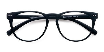 Matte Navy Brick Lane -  Fashion Plastic Eyeglasses