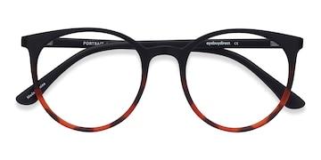 Black Tortoise Portrait -  Plastic Eyeglasses