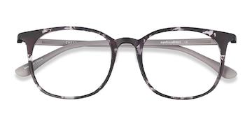 Swirled Gray Cheer -  Colorful Plastic Eyeglasses