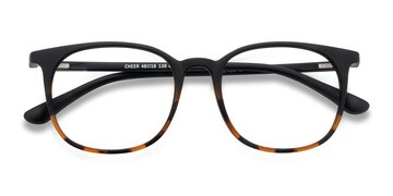 Black Tortoise Cheer -  Plastic Eyeglasses