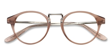 Brown/Silver Get Lucky -  Fashion Metal Eyeglasses