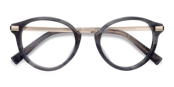Dark Gray Yuke -  Vintage Acetate Eyeglasses