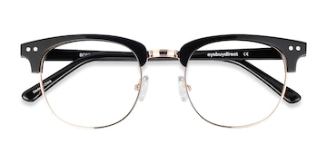 Black Borderline -  Vintage Acetate Eyeglasses