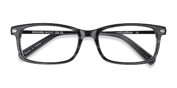 Gray Striped Requiem -  Acetate Eyeglasses