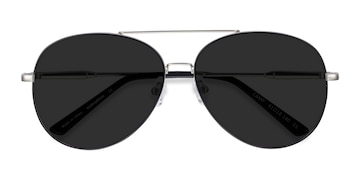 Black Silver  Camp -  Vintage Metal Sunglasses