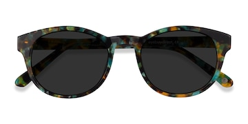 Green Tortoise Coppola -  Vintage Acetate Sunglasses