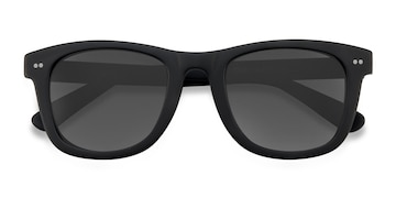 Matte Black Nevada -  Vintage Acetate Sunglasses