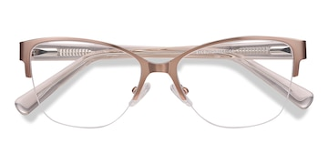 Rose Gold Feline -  Colorful Acetate Eyeglasses