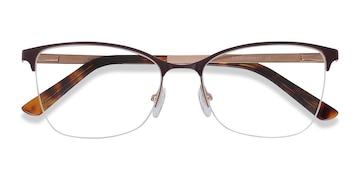 Burgundy Kira -  Vintage Metal Eyeglasses
