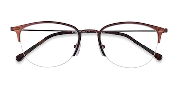 Brown Elise -  Metal Eyeglasses