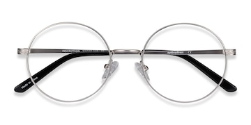Silver Inscription -  Vintage Metal Eyeglasses