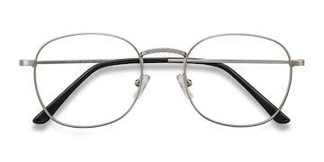 Silver Suspense -  Vintage Metal Eyeglasses