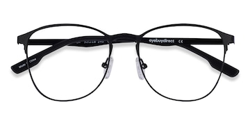 Matte Black Ember -  Geek Metal Eyeglasses
