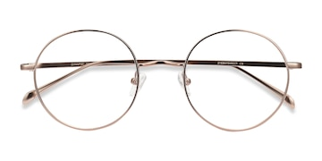 Rose Gold Synapse -  Metal Eyeglasses