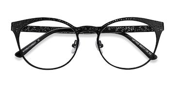 Black Lattice -  Metal Eyeglasses