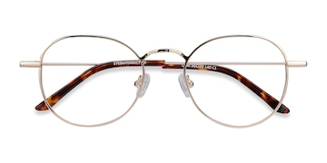 Golden Cori -  Vintage Metal Eyeglasses