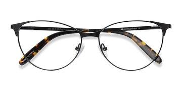 Black Sisi -  Vintage Metal Eyeglasses