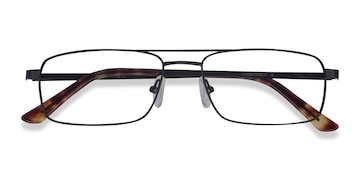 Black Maverick -  Metal Eyeglasses