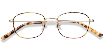 Tortoise Fortune -  Metal Eyeglasses