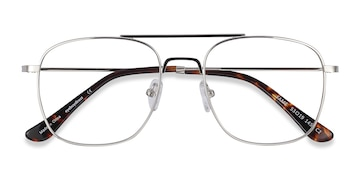 Silver Fame -  Vintage Metal Eyeglasses