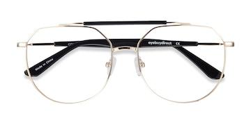 Golden Black Coxon -  Vintage Metal Eyeglasses