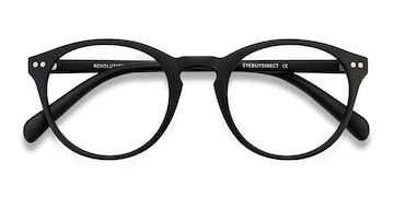 Matte Black Revolution -  Plastic Eyeglasses