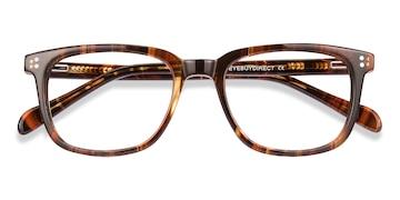 Brown Striped Kent -  Acetate Eyeglasses