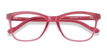 Clear Raspberry Cannes -  Coloré Acétate Lunettes de Vue