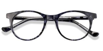 Gray Floral Delle -  Plastic Eyeglasses