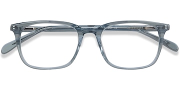 Clear Blue Etched -  Acetate Eyeglasses