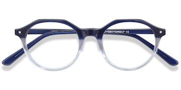 Clear Blue Moby -  Acetate Eyeglasses