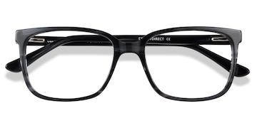 Gray Striped Formula -  Acetate Eyeglasses