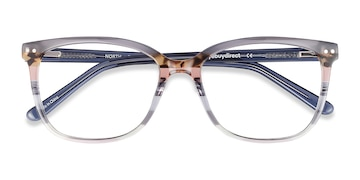 Gray Striped North -  Acetate Eyeglasses