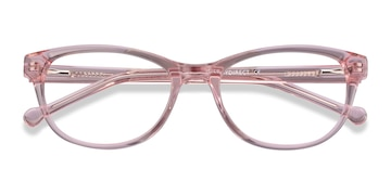 Clear Pink Thinker -  Acetate Eyeglasses