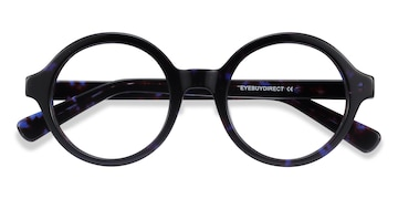 Blue Tortoise Groove -  Fashion Acetate Eyeglasses