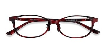 Red Tortoise Mabel -  Acetate Eyeglasses