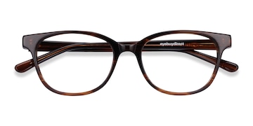 Brown Striped Patra -  Acetate Eyeglasses